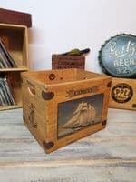Cowes Sailing Handcrafted Wooden Crate Hamper